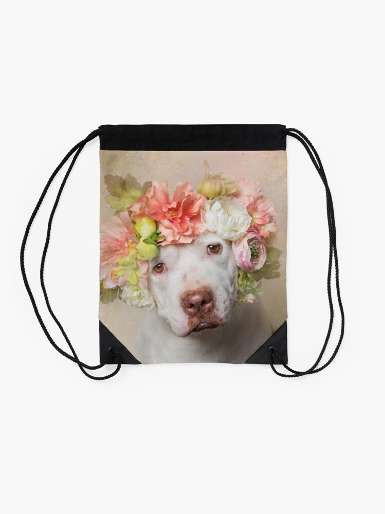Alternate view of Flower Power, Creasy Drawstring Bag