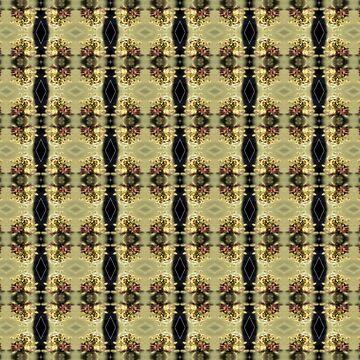 wildflower bouquet, yellow pattern by DlmtleArt