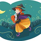 Witch Cute Friendly  by mimio2009