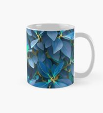 Lovely Blue Leaves Mug