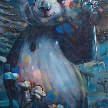 Panda of Finland: Pyry's Winter // Painting by ElliMaanpaa