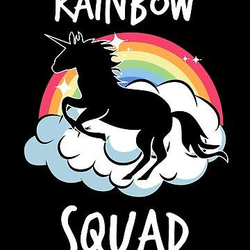 Rainbow Squad! Funny Unicorn Gift by MikeMcGreg
