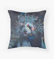 Panda of Finland: Pyry's Winter // Painting Throw Pillow