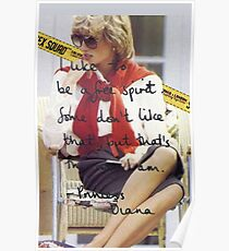Princess Diana Queen of Hearts - chic pose Poster