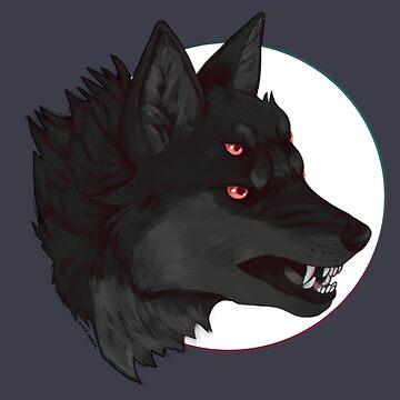 Lobo oscuro de owlapin