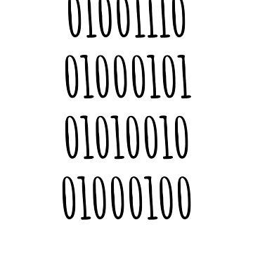 Nerd, In Binary- Funny Computing Coding Joke by the-elements