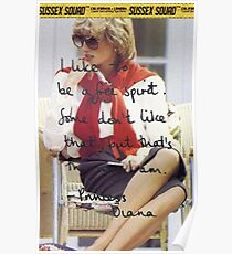 Lady Diana Spencer - Casual and Free Poster