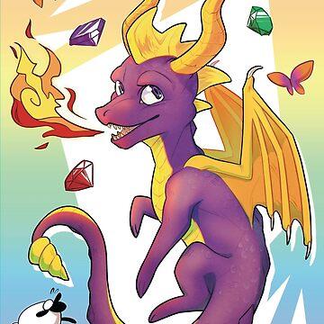 Spyro el dragón de owlapin