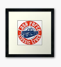 Task Force Apache Classic Truck 1955 - 1959 Gerahmtes Wandbild