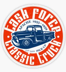 Task Force Apache Classic Truck 1955 - 1959 Transparenter Sticker