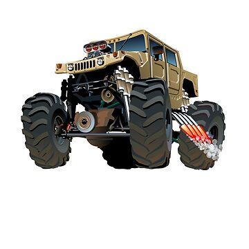 Humvee Monster Truck by nolamaddog
