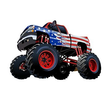 Patriotic Monster Truck by nolamaddog
