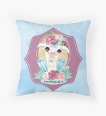 Blue Sky Maker Alpaca for all Crafters, Knitters, Crochet Throw Pillow