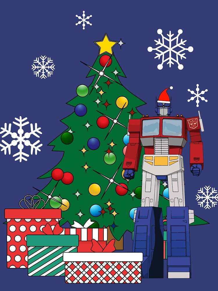 Optimus Prime Around The Christmas Tree by Nova5