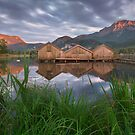 Kochelsee Huts by Michael Breitung