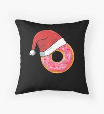 Funny Donuts Santa Claus Christmas Xmas Holiday T-shirts Tee Gift Floor Pillow