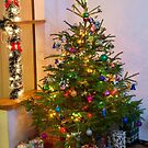 Decorated Christmas tree at home. by fotorobs