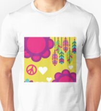 Hippie Love and Peace Unisex T-Shirt