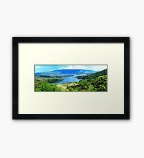 an inspiring Comoros landscape Framed Print