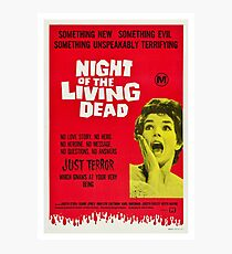 Night Of The Living Dead 1968, Vintage Movie Poster, Retro Halloween Zombie Idea Photographic Print