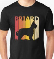 Vintage Retro Briard Christmas Gift Unisex T-Shirt
