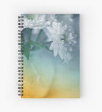 Whispery White Vintage in Vase Spiral Notebook