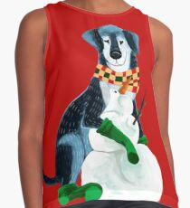 I want a warm hug for this Christmas!! Contrast Tank
