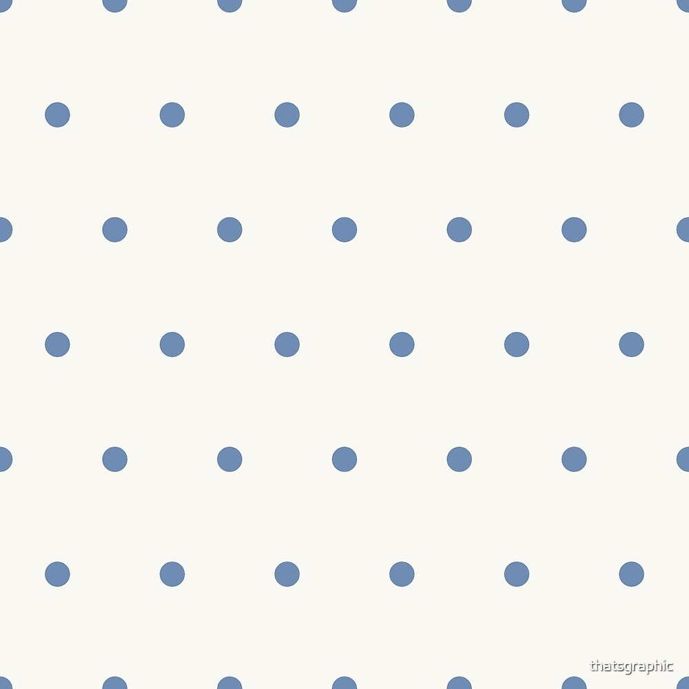 Blue Polkadots and off white background by thatsgraphic