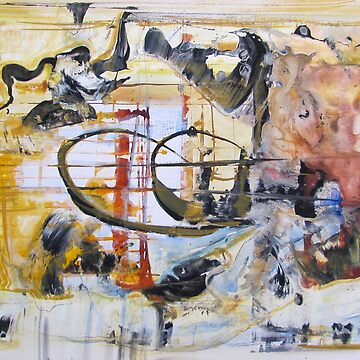 Storming of the Bastille, Paris Surrealism Original Abstract painting by musicaroundus