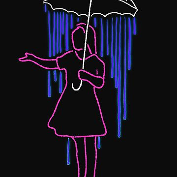 Girls Umbrella Neon Trendy Style Disco by yoddel