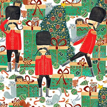 Pattern 100 - Guarding the gifts under the Christmas tree by IreneSilvino