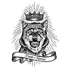 """""""Feast Or Famine"""" Crowned Wolf by TheActionPixel"""