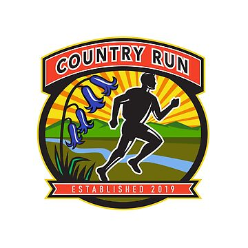 Country Marathon Run Icon by patrimonio