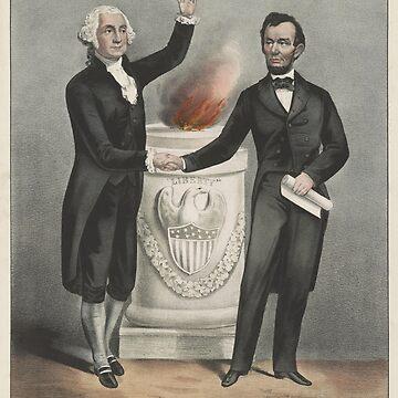 Vintage American Founding Fathers Illustration (1865) by BravuraMedia