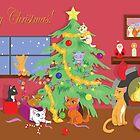 Kittens' First Christmas by thekohakudragon