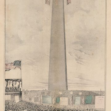 Vintage Bunker Hill Monument Inauguration Illustration by BravuraMedia