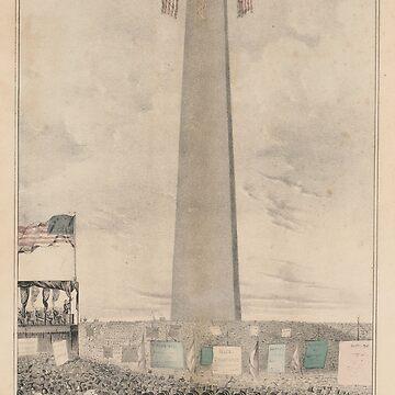 Vintage Bunker Hill Monument Inauguration Illustration by BravuraMedia