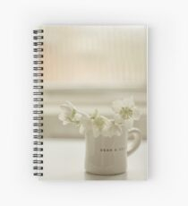 White on white Spiral Notebook