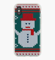 Christmas Knitted Snowman iPhone Case