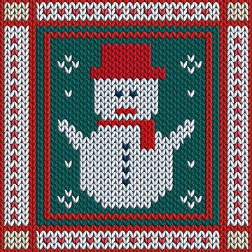 Christmas Knitted Snowman by kbasandra