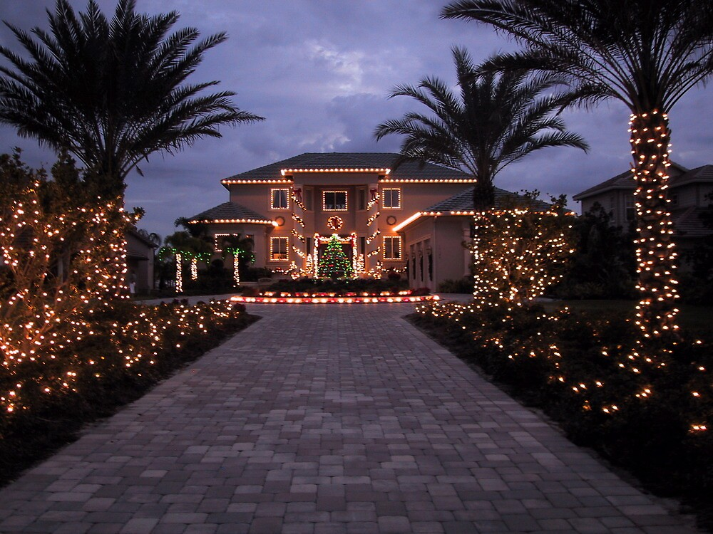 Christmas In Florida Totally Decorated By Msliz Redbubble