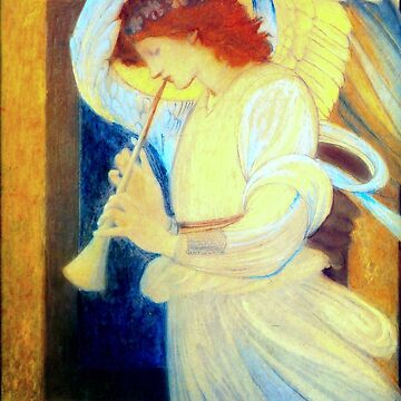 "Edward Burne-Jones ""An Angel Playing a Flageolet"" (3) by ALD1"