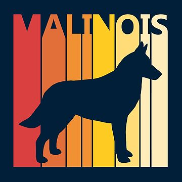 Vintage Retro Malinois Christmas Gift by polveri