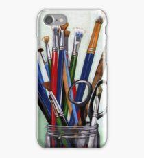 Artist Brushes - original still life painting iPhone Case/Skin