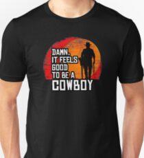 Red Horse Cowboy TShirt Damn, It Feels Good To Be A Cowboy  Unisex T-Shirt