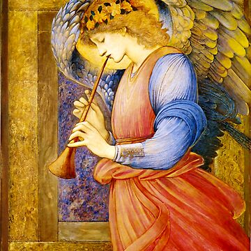 "Edward Burne-Jones ""An Angel Playing a Flageolet"" (1) by ALD1"