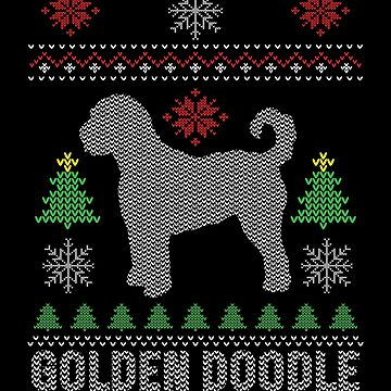 Ugly Golden Doodle Dog Christmas Computer Xmas Apparel Funny by CustUmmMerch