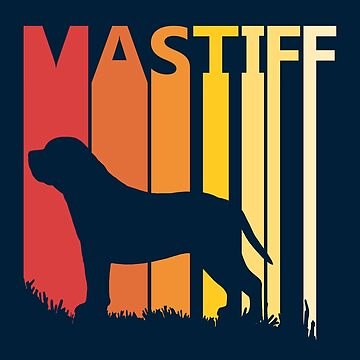 Vintage Retro Mastiff Christmas Gift by polveri