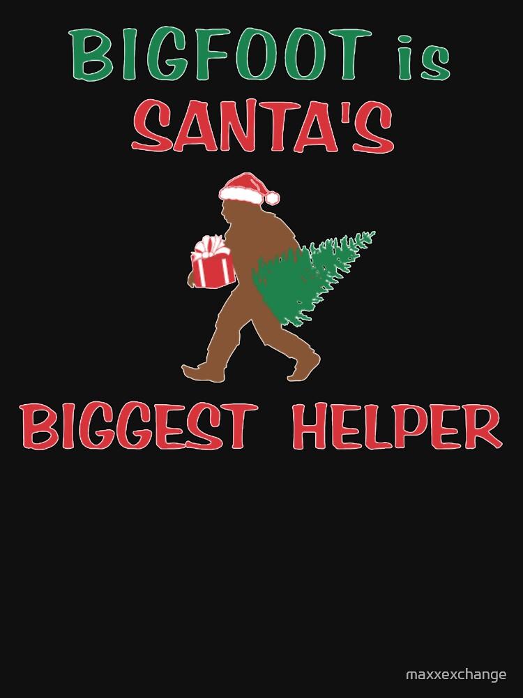 Bigfoot is Santa's Biggest Helper, Gifts by maxxexchange