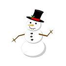 Cartoon Snowman by Eric Pauker
